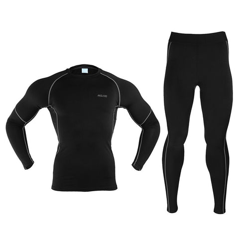 ARSUXEO Men Winter Thermal Warm Up Fleece Compression Cycling  Base Layers - JoshuaTreeDepot