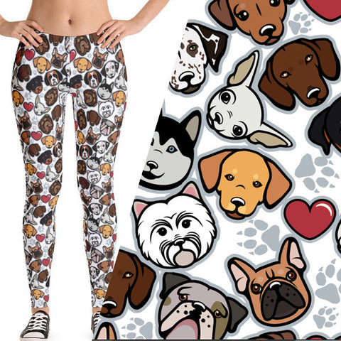 dog patterned leggings