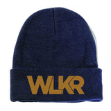 Navy & Gold Unisex Beanie by WLKRDSGN