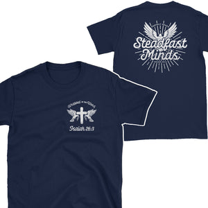 steadfast minds isaiah 26:3 t shirt