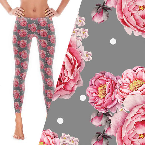 Peony Bloom Leggings