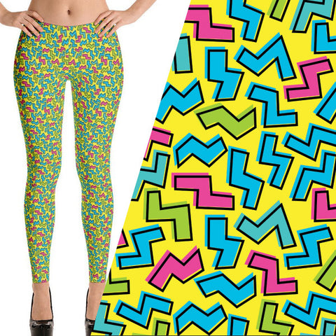80s theme party leggings