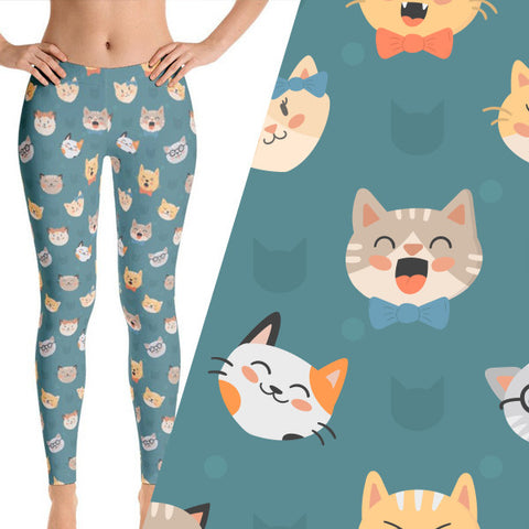 hipster cat leggings
