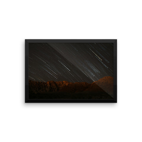 Framed Photography - Red Rock Star Trails