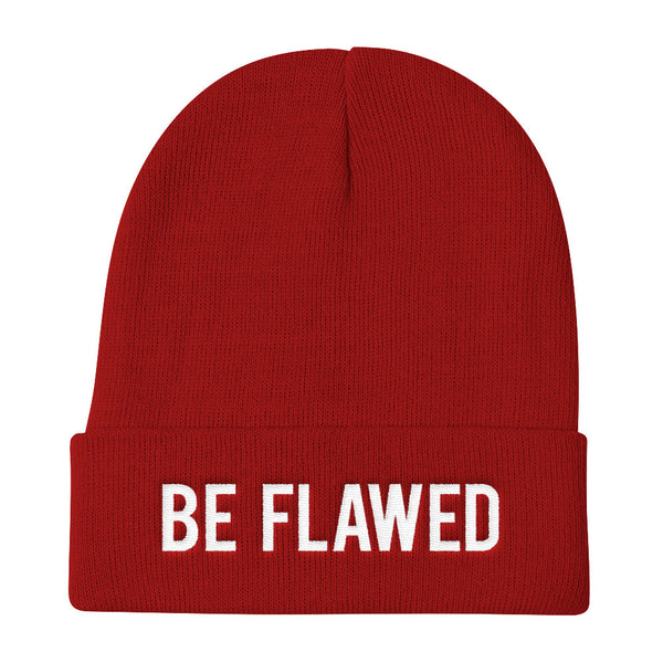 Be Flawed - Embroidered Unisex Beanie
