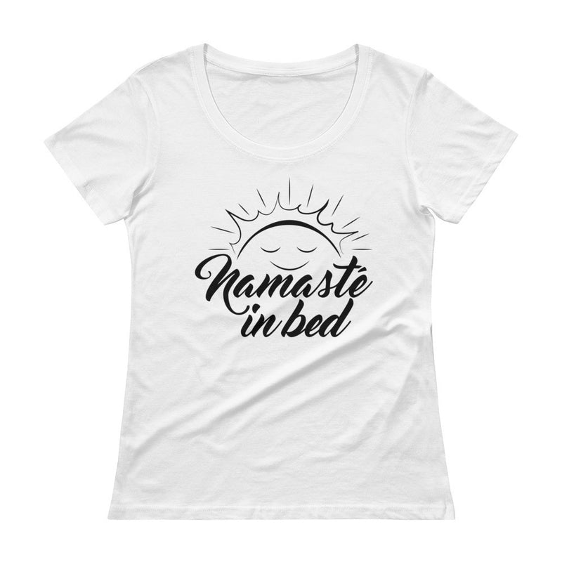 Namaste In Bed - Women's Scoop Neck Yoga Tee