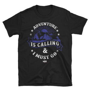 adventure is calling t shirt mens