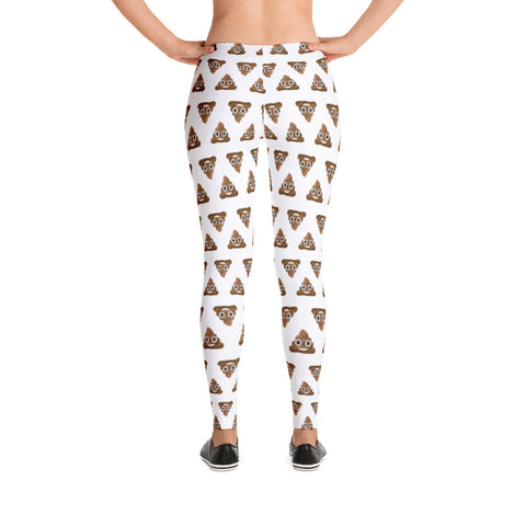 Poop Emoji Leggings | Funny Women's Yoga Pants