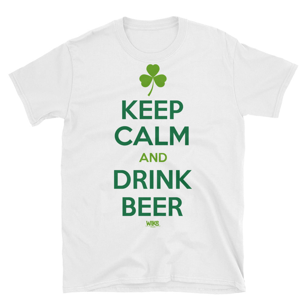 Keep Calm & Drink Beer | St. Patricks Day Unisex T-Shirt