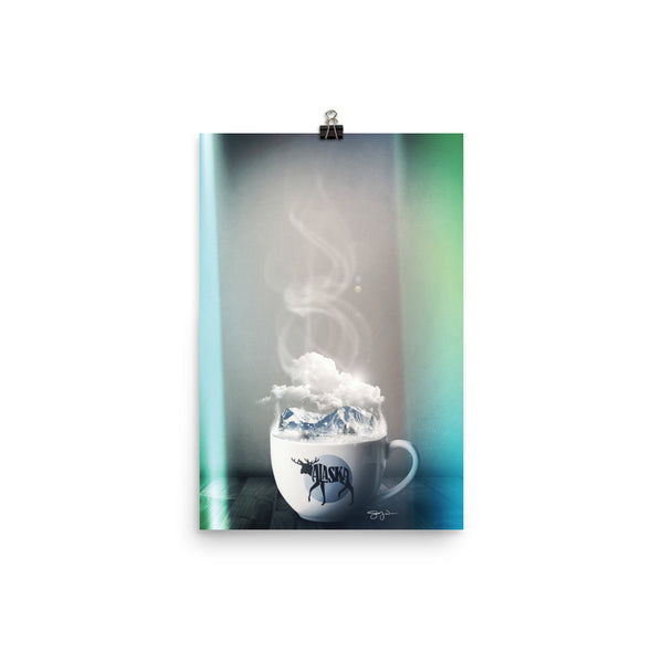 Alaska Coffee Print by WLKR Design