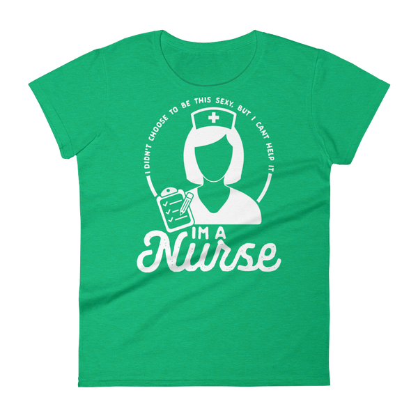 funny nurse shirts for women green