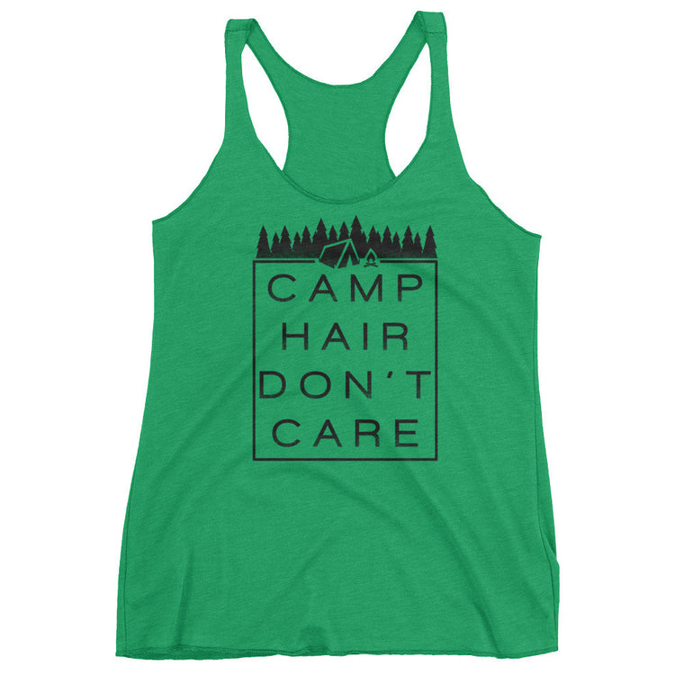 Camp Hair Don't Care - Women's Tri-Blend Racerback Tank