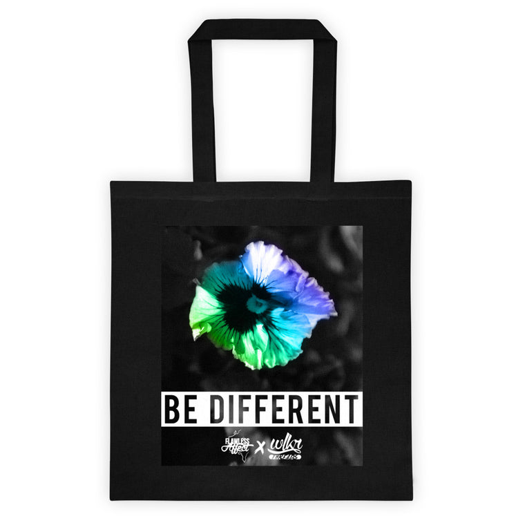 Be Different - Black Tote Bag