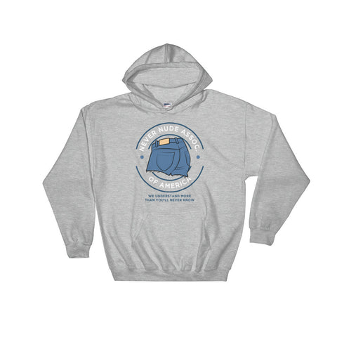 Never Nude - Arrested Development Hooded Sweatshirt