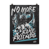 Fake Friends Luster Print by WLKR Design