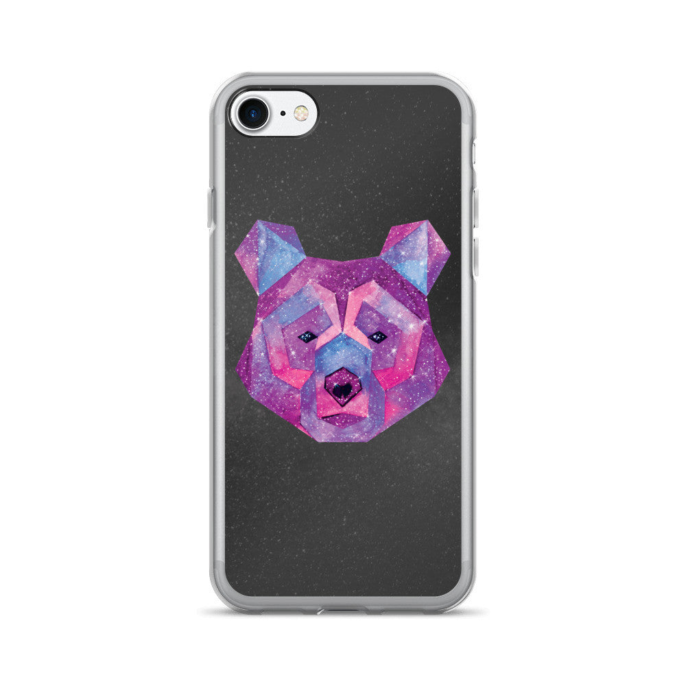 Hipster iPhone Case - Cosmic Bear by WLKR Threads