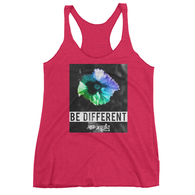 Be Different - Women's Racerback Tank Top