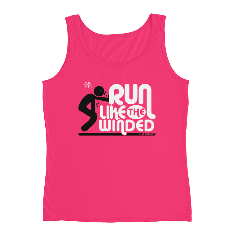 Run Like The Winded | Funny Women's Gym Tank | Cardio Gym Tank Top