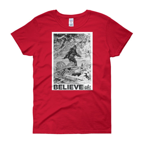 Funny Bigfoot Tshirt For Women
