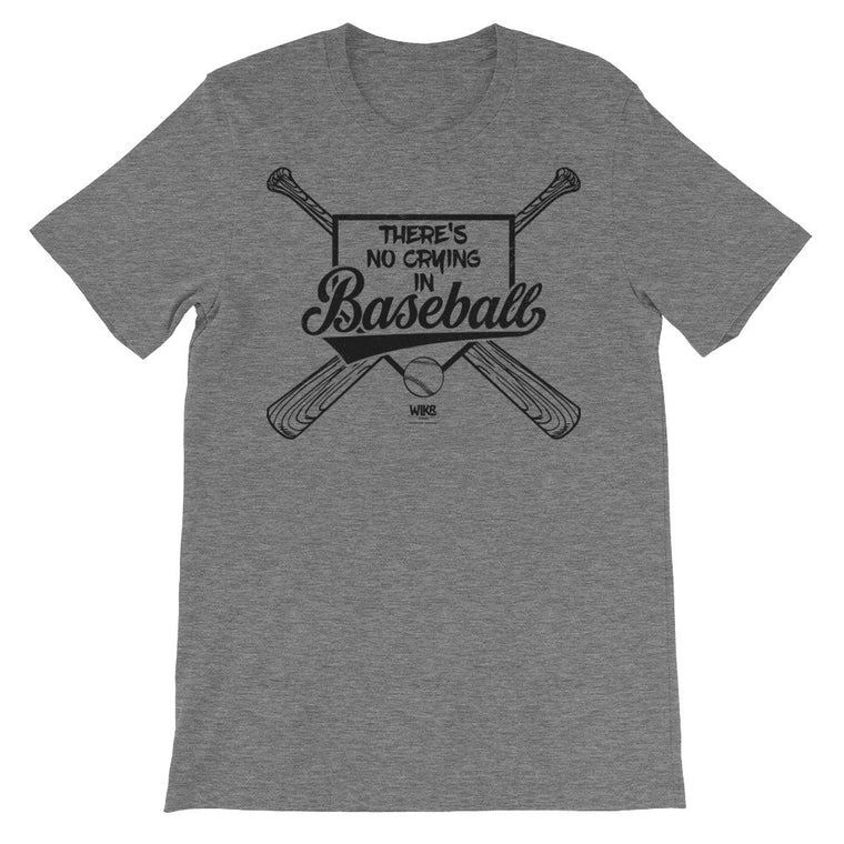 There's No Crying In Baseball (Black) | Men's/Unisex T-Shirt