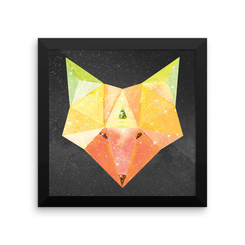 Cosmic Fox - Framed 10x10 Matte Print