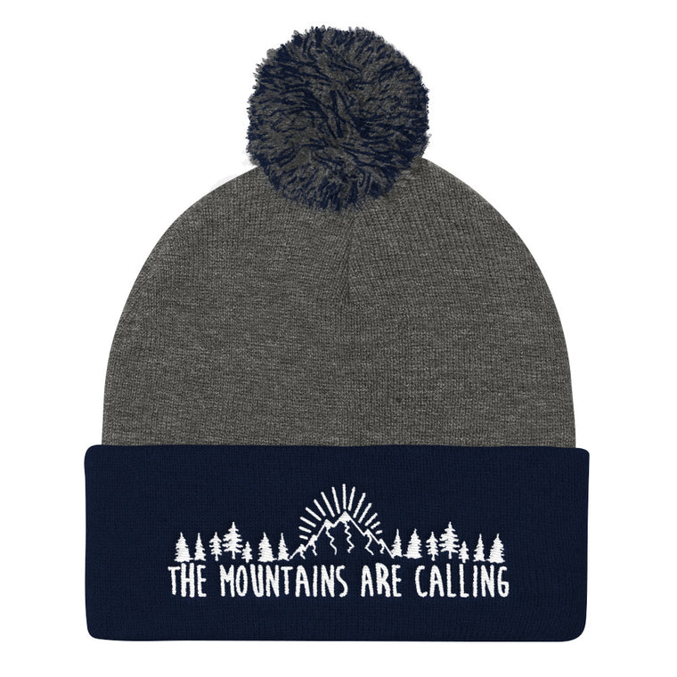 The Mountains Are Calling | Unisex Embroidered Beanie