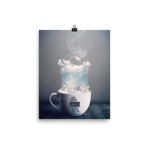 Seattle Coffee Art Print