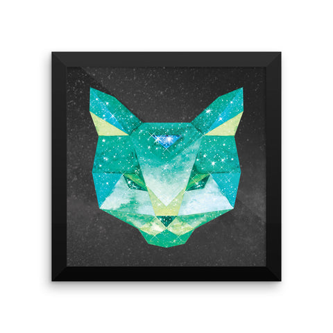 Cosmic Cat - Framed 10x10 Matte Print