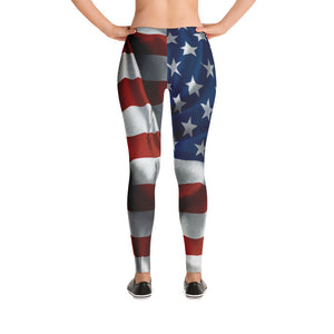 4th of July Leggings - Women's American Flag Leggings