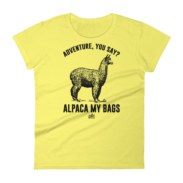 Adventure You Say, Alpaca My Bags by WLKR Threads