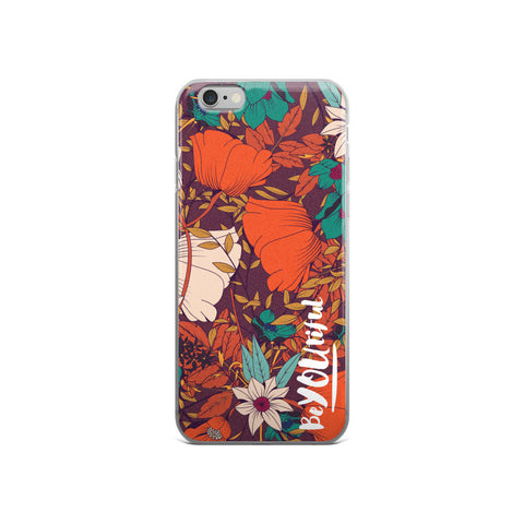 BeYOUtiful - Floral iPhone Case