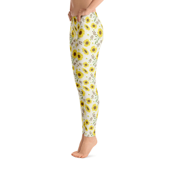 Cute Floral Yoga Pants