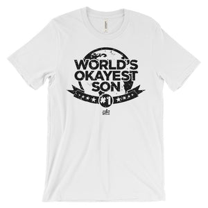 World's Okayest Son - Funny Men's Graphic Tee
