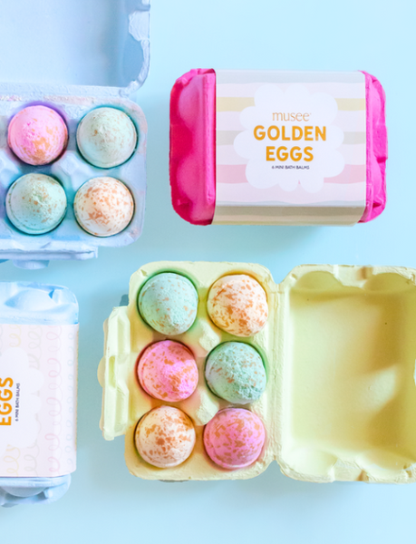 Golden Eggs Bath Balms from Musee