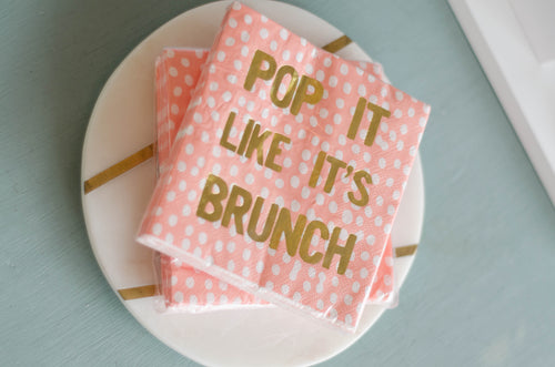 Pop it Like it Brunch Napkins