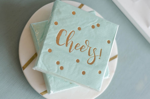 Blue Cheers Napkins