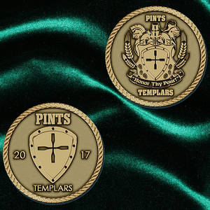 Only 10 Left! The 2017 Pints Templars Club Coin