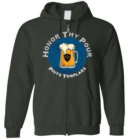 Honor Thy Pour Hoodie - Zip Up