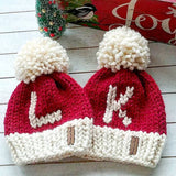 Adult Monogram Santa Toque