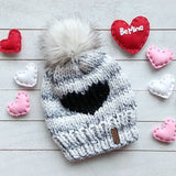Baby Follow Your Heart Toque with Faux Fur Pompom