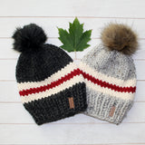 Child Canadiana Toque with Faux Fur Pompom