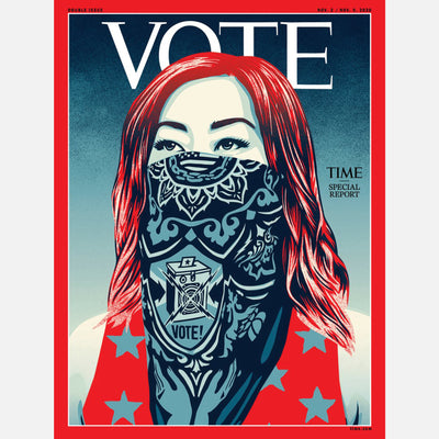 The new cover of TIME magazine illustrated by Shepard Fairey