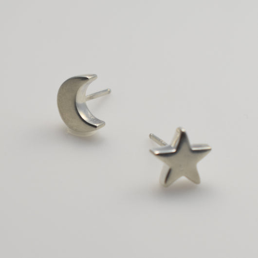 Moon and Star Mismatch Earrings
