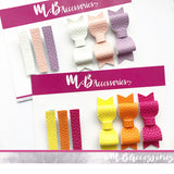 Mini bow and fringe clip sets
