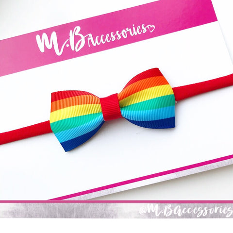 Rainbow pinch bow