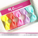 Lace pinch bow - bright shades