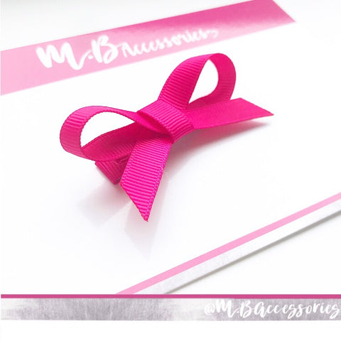 Little ribbon bow - Single clip - available in 72 shades