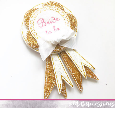 'Bride to be' hen do badge