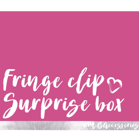 Fringe clip surprise box
