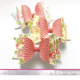 Floral print dolly bow